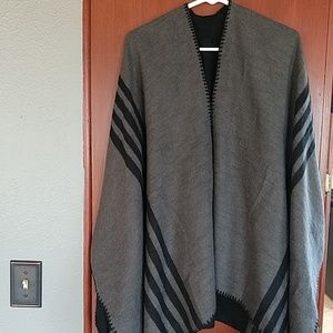 Beautiful Reversible Knit Poncho